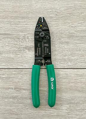 """HUAQI 8/"""" CRIMPING TOOL PLIERS CABLE CUTTER ELECTRICAL WIRE STRIPPER CUTTING DIY"""