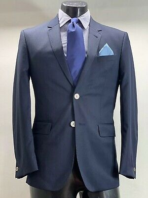 Ted Baker Endurance Wool Navy Blue Suit Men's 36 R