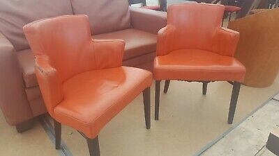 Stylish faux leather tub chairs would suit pub, bar, cafe, reception etc...