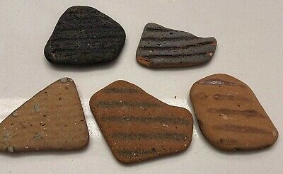 Ancient Roman Clay Shards Pottery Found Caesarea Israel Archeological Artifact
