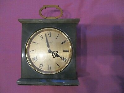 Imhof green onyx Swiss made bookshelf clock 15 jewels for repair