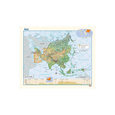 The Map of Asia Large Poster Decor Non-woven Fabric