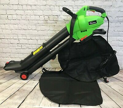 Leaf Blower Mulcher and Vacuum 3000 Watt Electric Garden Vac with 2 Bags