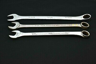 3 Piece Assorted Open/Box End Wrench. (2) S&K, (1) P&C
