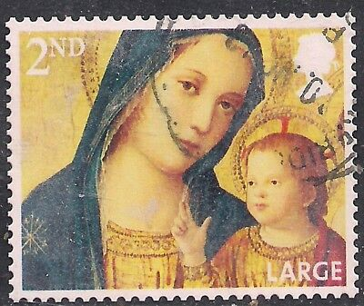 GB 2013 QE2 2nd Class Christmas Large Letter used stamp SG 3544  ( F1045 )