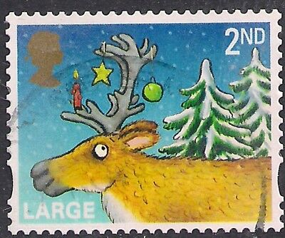 GB 2012 QE2 2nd Class Christmas Large Letter used stamp SG 3417  ( F1023 )