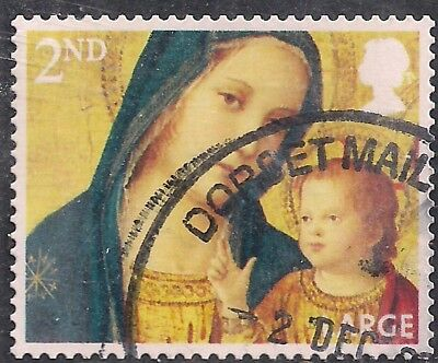 GB 2013 QE2 2nd Class Christmas Large Letter used stamp SG 3544  ( F1048 )