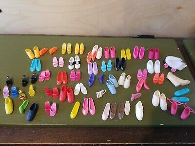 ✿ ܓVintage Doll Shoes Ballet Barbie Super Dance Pink Slippers w// straps ✿ ܓ