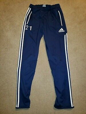 Adidas Athletic Pants Sweatpants Mens sz Small S Navy Blue Soccer #21 Tapered