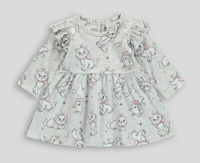 Disney Baby Girls Aristocats Marie Cat Adorable Print Dress 0 to 12 Months NEW