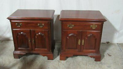 Knob Creek Pair NIghtstands Tables  Solid Cherry