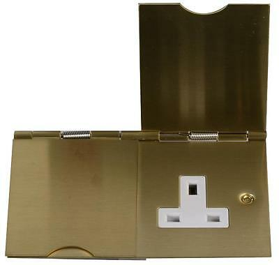 FLOOR Socket 2 GANG BRASS EFFECT Electrical Switches & Socket Outlets