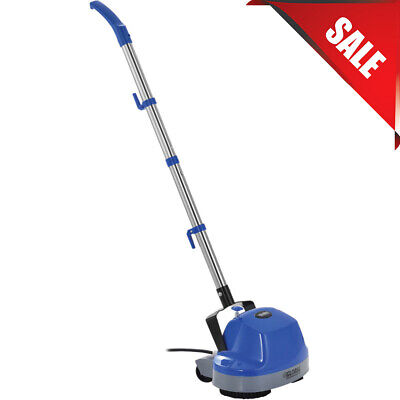 "Mini Floor Scrubber W/ Floor Pads, 11"" Cleaning Path Electric Polisher Tile Wood"