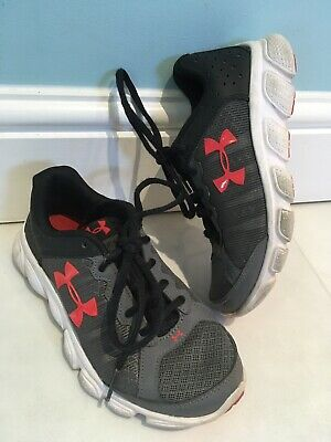 Under Armour Assert 6 Boys Kids Youth Running Trainers 13 UK Black Grey Red