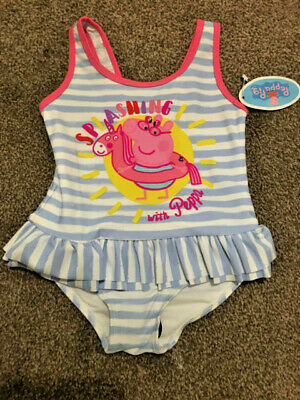 Girls Exstore Peppa Pig Swimming Costume Sizes 12 months - 5 years - New!!!