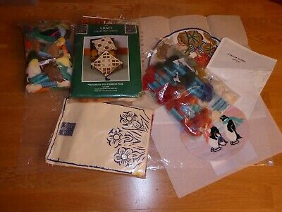Bundle Tapestry Kits Part Complete/Completed/Wool Craft Collection/Geraniums