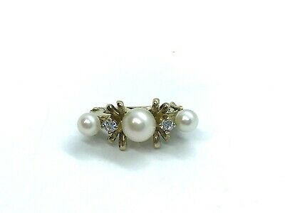 JKa J. Kohle Double Bead Pearl Retainer Shortener Clasp Gold on Sterling Silver