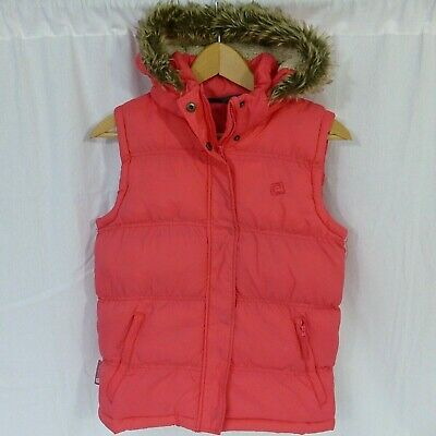 Girls Mountain Warehouse thick padded winter hooded gilet jacket age 11-12 years