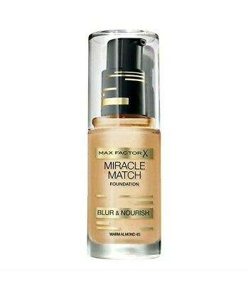 Max Factor Miracle Match Blur And Nourish Foundation - Warm Almond 45