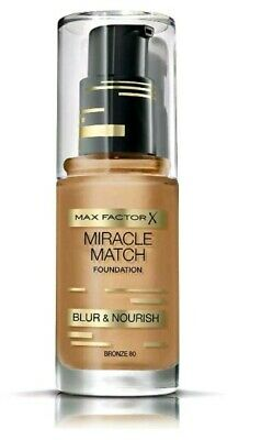 Max Factor Miracle Match Blur & Nourish Foundation Bronze 80