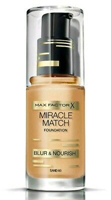 Max Factor Foundation Miracle Match 30ml Sand 60 SEALED NEW
