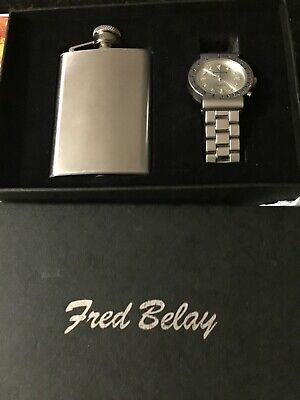 Fred Belay Watch And Flask Gift Set
