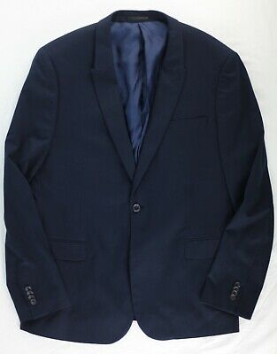 Topman Navy Blue Blazer Sport Coat 44 NWOT New without tags