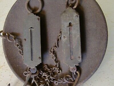 Spring Scale Weights And Tray Vintage Old Time Hand Tools Home Kitchen Fishing