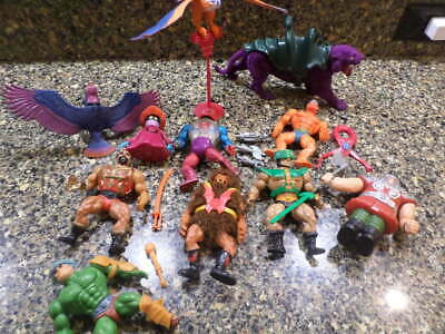 1980s he-man masters of the universe toy lot.