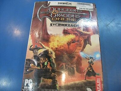 Dungeons and Dragons Online-Stormreach - Windows PC Game - Retro - Vintage