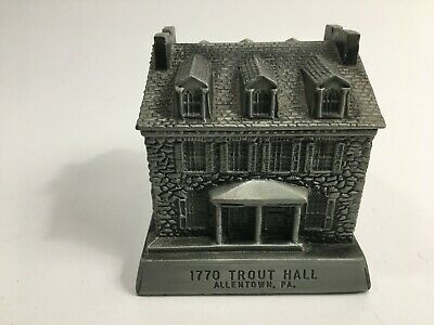 Vintage Metal Still Bank 1770 Trout Hall Allentown, Pa. by Banthrico Mfg. 1979