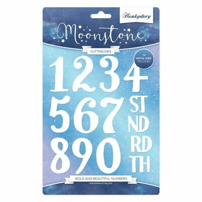 Hunkydory Moonstone - Bold & Beautiful Numbers Die Set - 14 Dies - MSTONE164