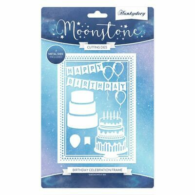 Hunkydory Moonstone - BIRTHDAY CELEBRATION FRAME Die Set - 7 Dies - MSTONE162