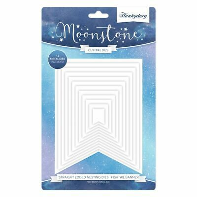 Hunkydory - Moonstone STRAIGHT EDGED FISHTAIL BANNER Nesting Craft Die Set