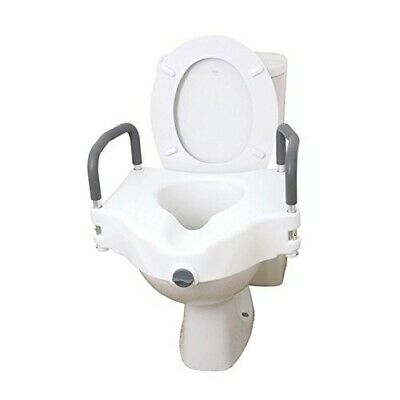 Drive 2 in 1 Elevated Toilet Seat Removable Arms Raised Disability Aid Universal