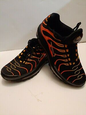Nike Air Max 97 Plus Black Engine 1 Shock Orange Rise Bullet