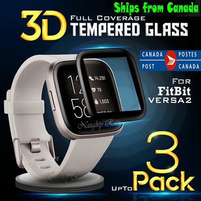 2X Tempered Glass LCD Clear Screen Protector Film Guard For Fitbit Versa 2