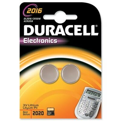Duracell DL2016B2 Lithium 3V non-rechargeable battery.