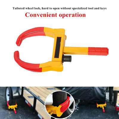 Steel Wheel Lock Clamp Boot Tire Claw Trailer Car Truck Anti-Theft Towing Safety