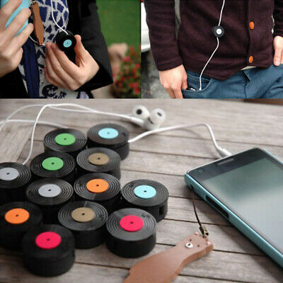 Multipurpose Portable Space Saving Retro Round Random Color Earphone Winder