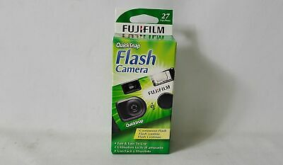 Fujifilm Quicksnap 400 35mm 27 Exposures Disposable Flash Camera Exp Date 2022