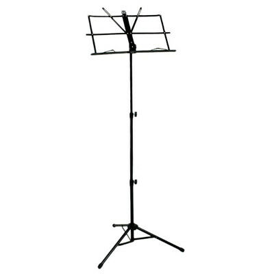 Folding Sheet Music iron Holder Stand with Bag (Color: Black) A2V7