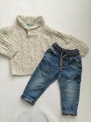 Next, Marks & Spencers Baby Boys 12-18 Months Outfit Jeans Jumper Combined Post
