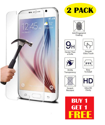 2 pc 100% Genuine Tempered Glass Film Screen Protector For Samsung Galaxy S7