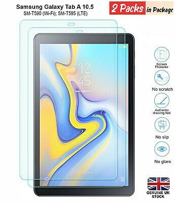"""2PC Tempered Glass Screen Protector For Samsung Galaxy Tab A SM-10.5"""" T590 T595"""