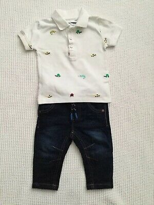 Next Baby Boys 3-6 Months Outfit Bundle Jeans Polo Top Combined Post
