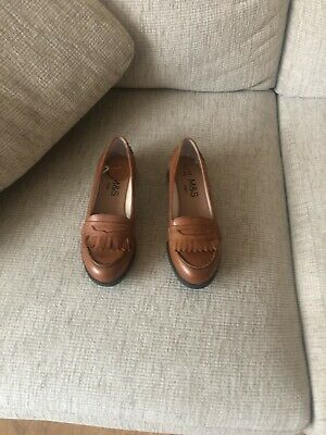 Marks and Spencers Girls Tan Leather Size 2