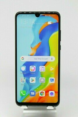 Huawei P30 Lite 128GB *Minor crack* black Android smartphone mobile repairs