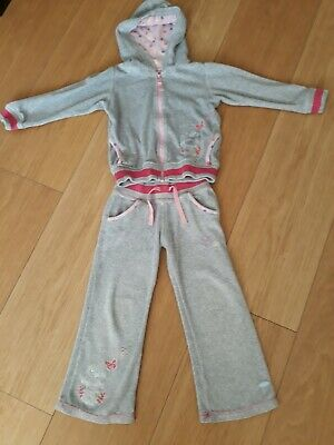 """Girls M&S """"Me To You"""" Designer Grey  Velour Tracksuit -  Aged 2-3 Years"""