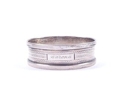 Antique Silver Napkin Ring Henry Griffith & Sons 1909 HM 925 Sterling 10.9g